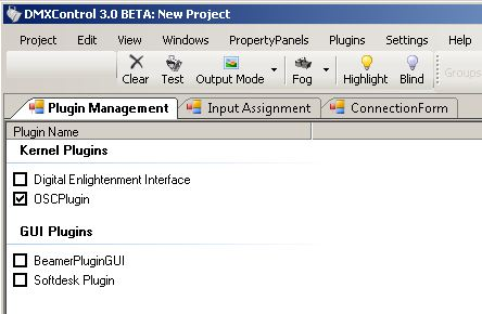 Picture 1: Activating OSC-Plugin