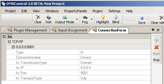 Picture 2: OSC-Plugin setup