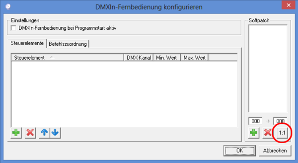 Picture 8: Softpatch configuration DMXControl 2