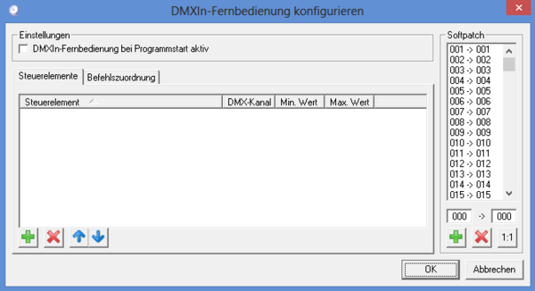 Picture 10: Softpatch in DMXControl 2